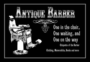 ... for antique barber equipment and antique barber shop with confidence