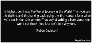 More Robyn Davidson Quotes