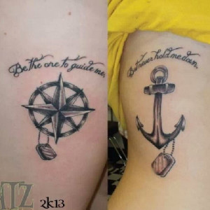 Friend anchor tattoos with quotes quotesgram for Tattoos for best friends with meaning