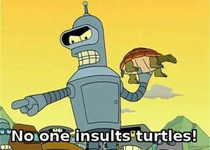 funny TV show futurama bender turtles Robot