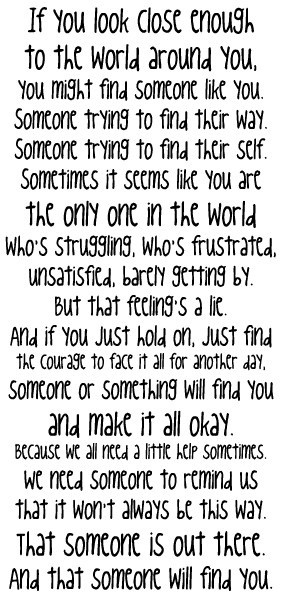 One Tree Hill quote again..surprise surprise :) http://media-cache6 ...