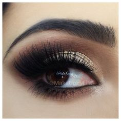 Golden Smokey Eyes 1⃣ Lorac pro palette in light bronze, gold and ...