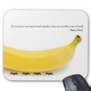 Team Work Inspirational Quote with Funny Banana cards by Little_Zazzle