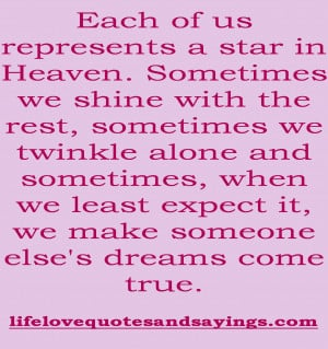 now your in heaven quotes