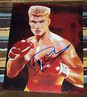 DOLPH LUNDGREN SIGNED 8X10 PHOTO ROCKY IV IVAN DRAGO BOXING FIGHT