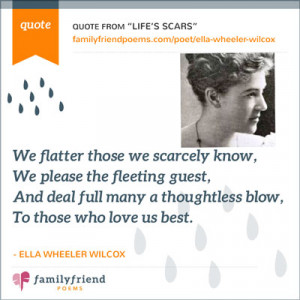 Life's Scars By Ella Wheeler Wilcox