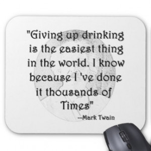 Twain and Drinking Mousepads