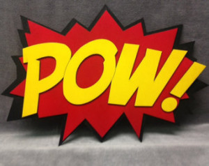 LARGE Comic Book POW Quote Wall Art /Plaque ...