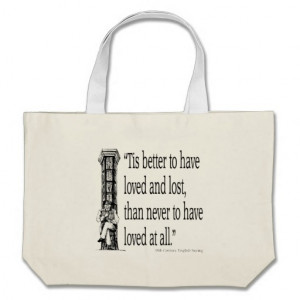 Old English Saying - Love - Quote Quotes Verses Canvas Bags