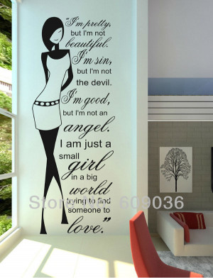 Pretty-Inspirational-Bedroom-Decal-Girl-Teen-Wall-Quote-Sticker ...