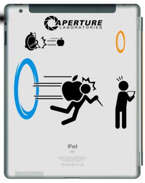 Portal Themed iPad Decals