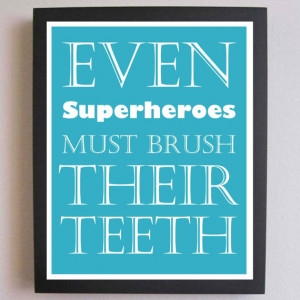 Brush Your Teeth, Nursery Art, Typography Poster, Nursery wall quotes ...