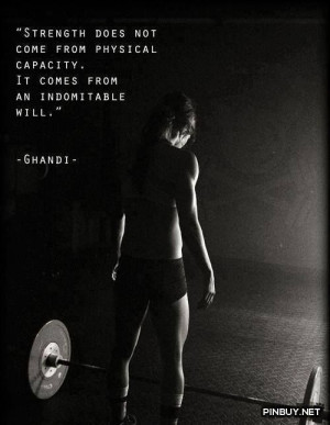Strength quote - Fitness, Training, Bodybuilding Quotes