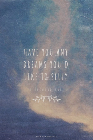 Have you any dreams you'd like to sell? Fleetwood Mac | #lyrics