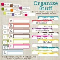 Organizing Labels for all your stuff