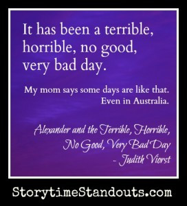 ... Book – Alexander and the Terrible, Horrible, No Good, Very Bad Day