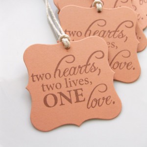 Tags Love Quote - Set of 8 - Custom Colors Available - Bridal Shower ...