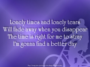 Better Days - Robbie Williams Song Lyric Quote in Text Image