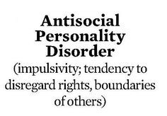Anti Social Personality Disorder | Anti-Social Personality Disorder ...