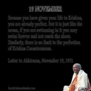 Srila Prabhupada Quotes For Month November 19