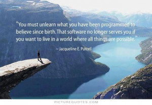 ... What You Have Been Programmed To Believe Since Birth - Possible Quote