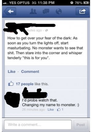 How to get over your fear of the dark .
