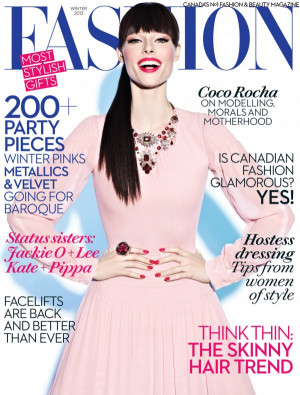 ... and mother Coco Rocha has hit another magazine cover this winter