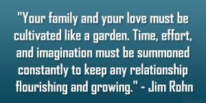 "... to keep any relationship flourishing and growing."" – Jim Rohn"