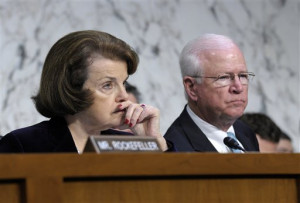 Sens. Dianne Feinstein (D; left) and Saxby Chambliss (R) both endorse ...