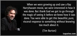 More Tim Burton Quotes