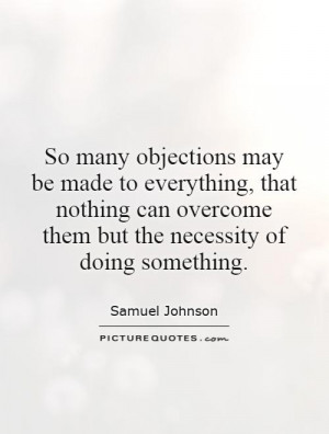 Objections Quotes