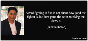 Sword fighting in film is not about how good the fighter is, but how ...