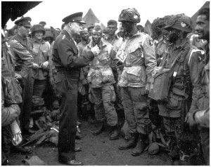 Before D-Day, Gen. Dwight Eisenhower gives his