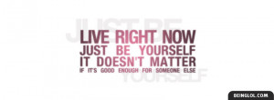 Just Be Yourself Facebook Timeline Cover