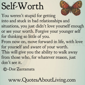 Self Worth - Stuck out of love