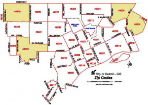 Detroit Zip Code Map