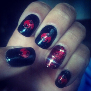 Tech N9ne nails!!! LOVE THEM! Tech Tech N9ne N9ne!