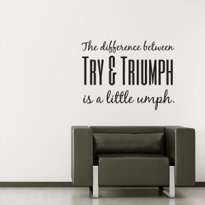 Triumph Quote Wall Decal