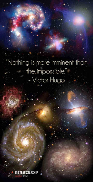 Nothing is more imminent than the impossible.