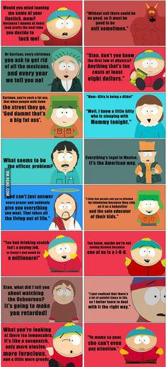Some great South Park quotes 2 More