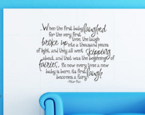 ... Tinkerbell Nursery Quote Wall Decal Wall Art Childrens Decal Room