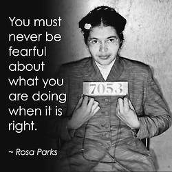 Picture of Rosa Parks who has been known as someone who refused to ...
