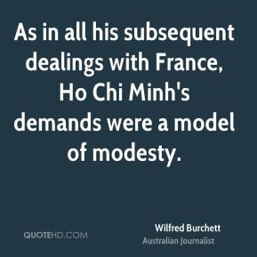 Wilfred Burchett - As in all his subsequent dealings with France, Ho ...