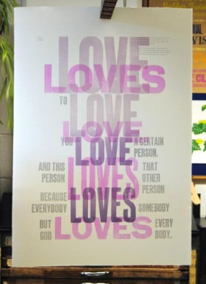 Quote from James Joyce's Ulysses. Twitter / 2lysses: Love loves to ...