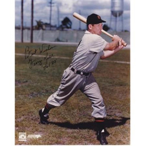 George Kell Autographed Detroit Tigers 8X10 Photo With Inscription