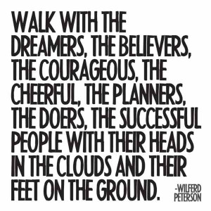 Walk with the Dreamers Quotable Card and Magnet