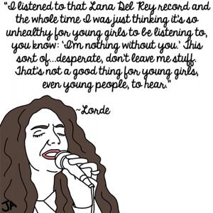 Lorde on Lorde