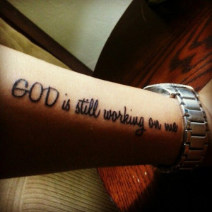 Faith quotes tattoos quotesgram for Tattoo quotes about god
