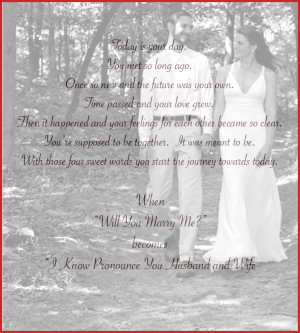 Wedding Poems For Bride And Groom Bride and groom walk down