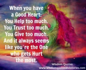 Good Heart You Help Too